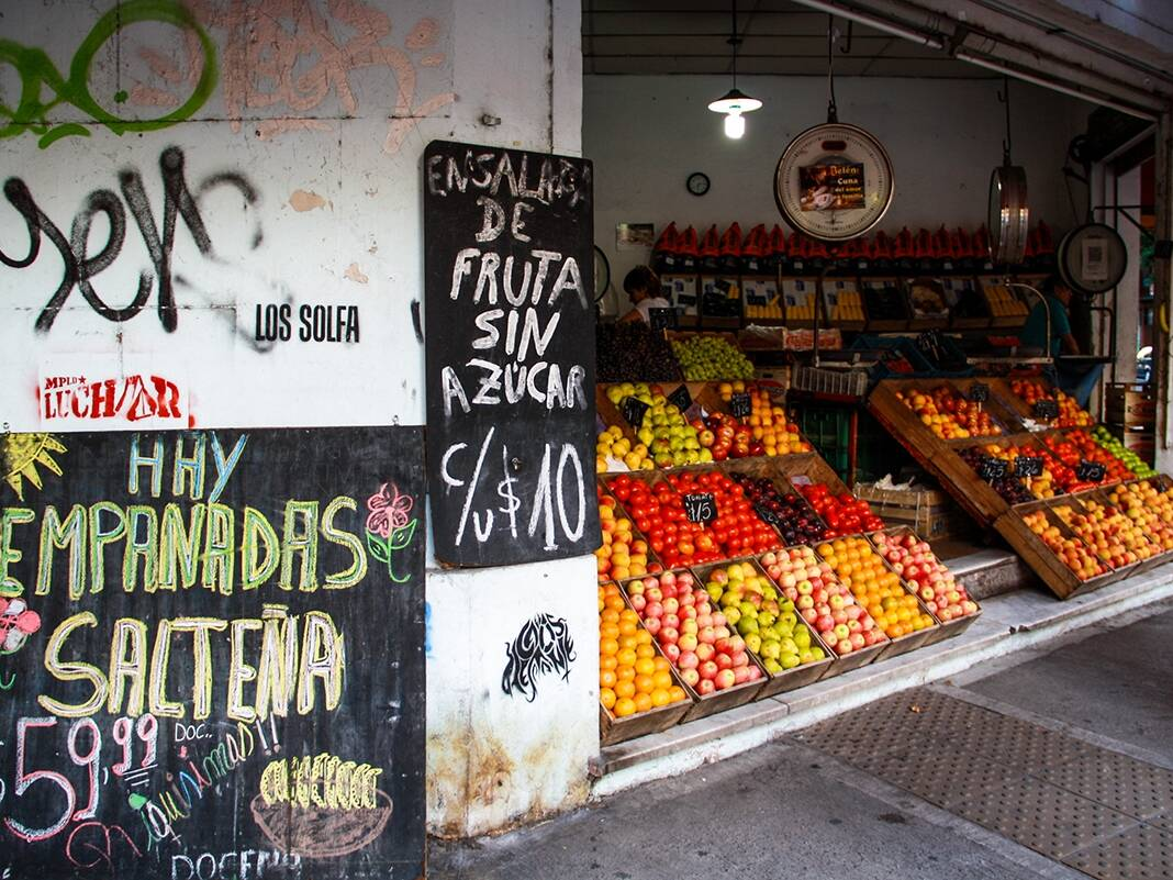Fruit market in Palermo Buenos Aires