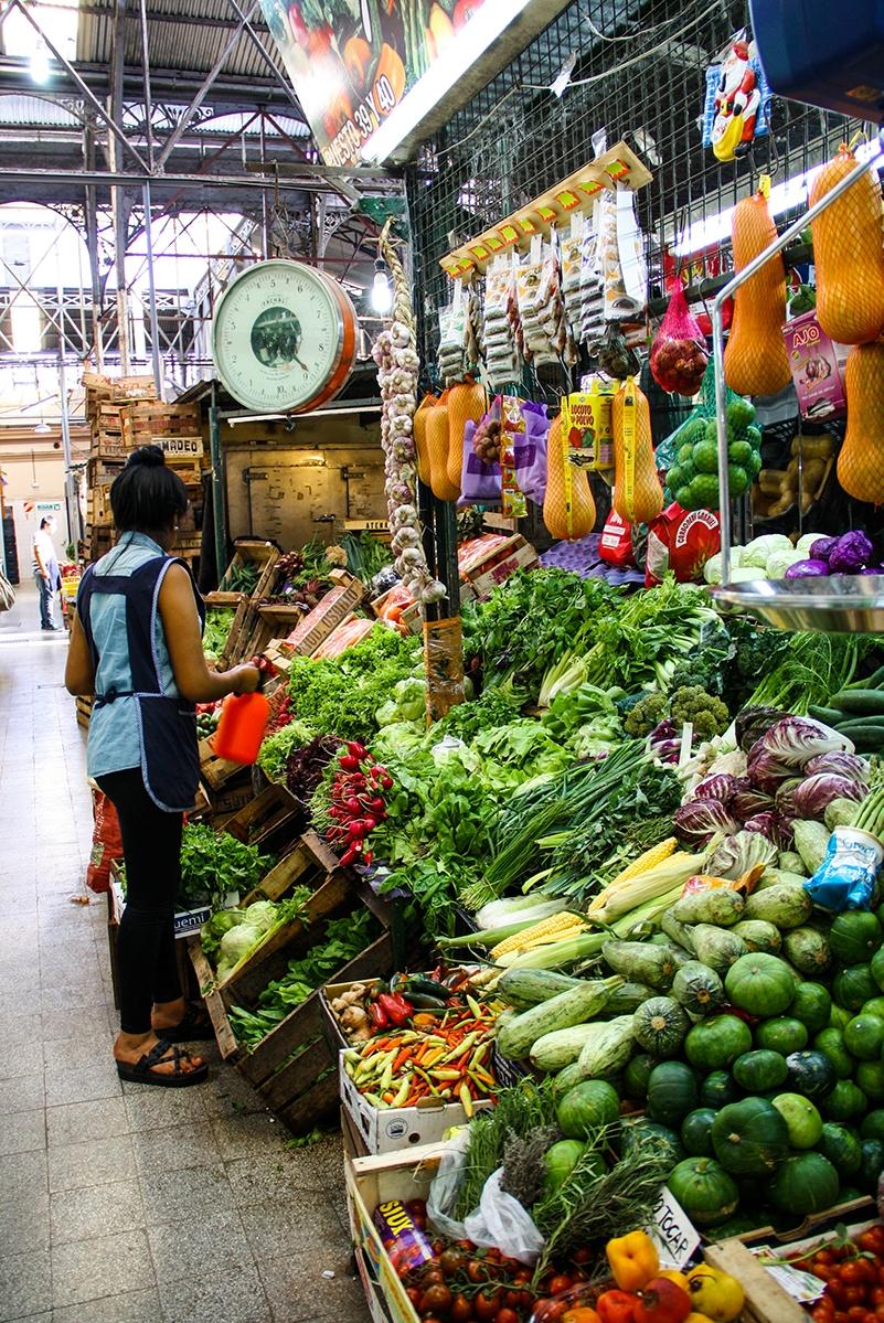 Fruit market in San Telmo Buenos Aires