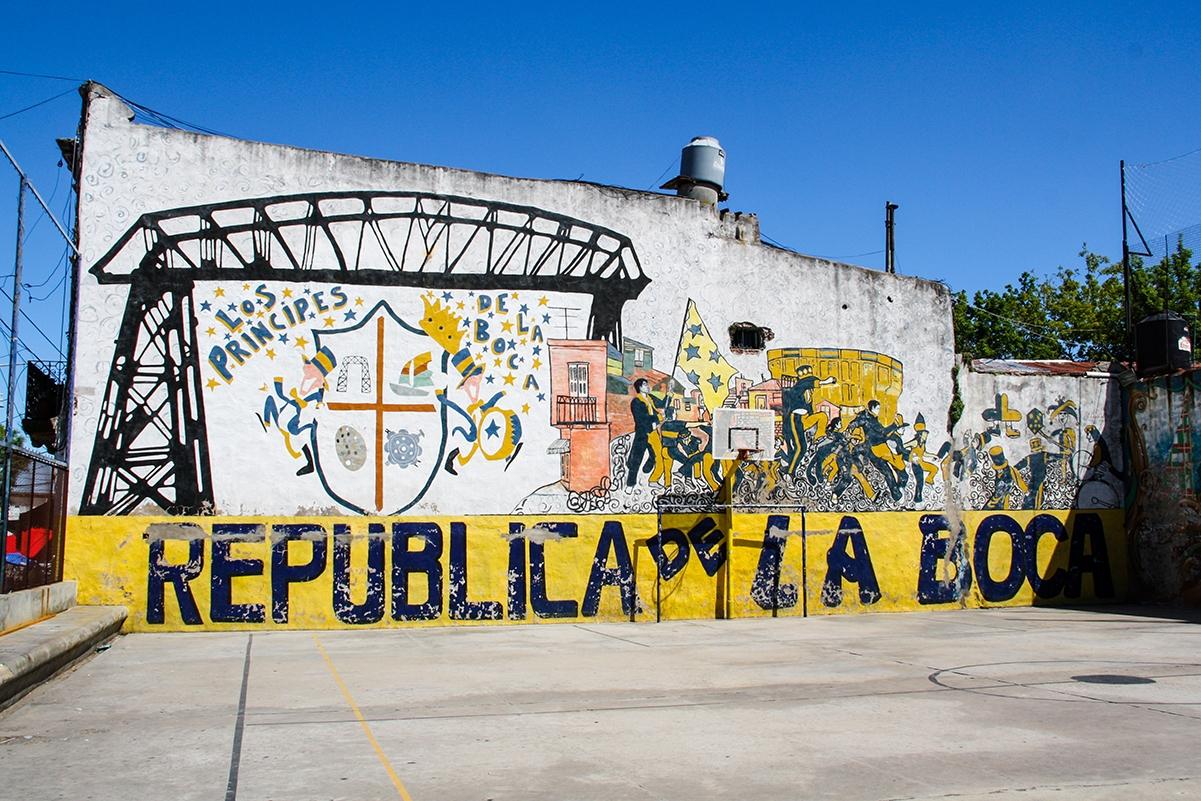 Soccer field in La Boca Buenos Aires