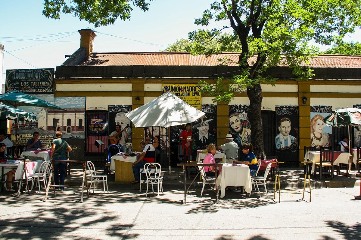 Street restaurant in La Boca Buenos Aires