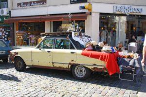 market stand car san telmo buenos aires