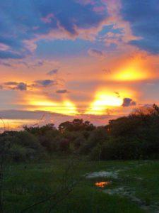 okavango delta sunset sky botswana