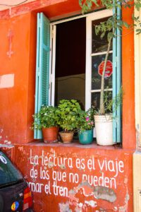 poem street art in Buenos Aires