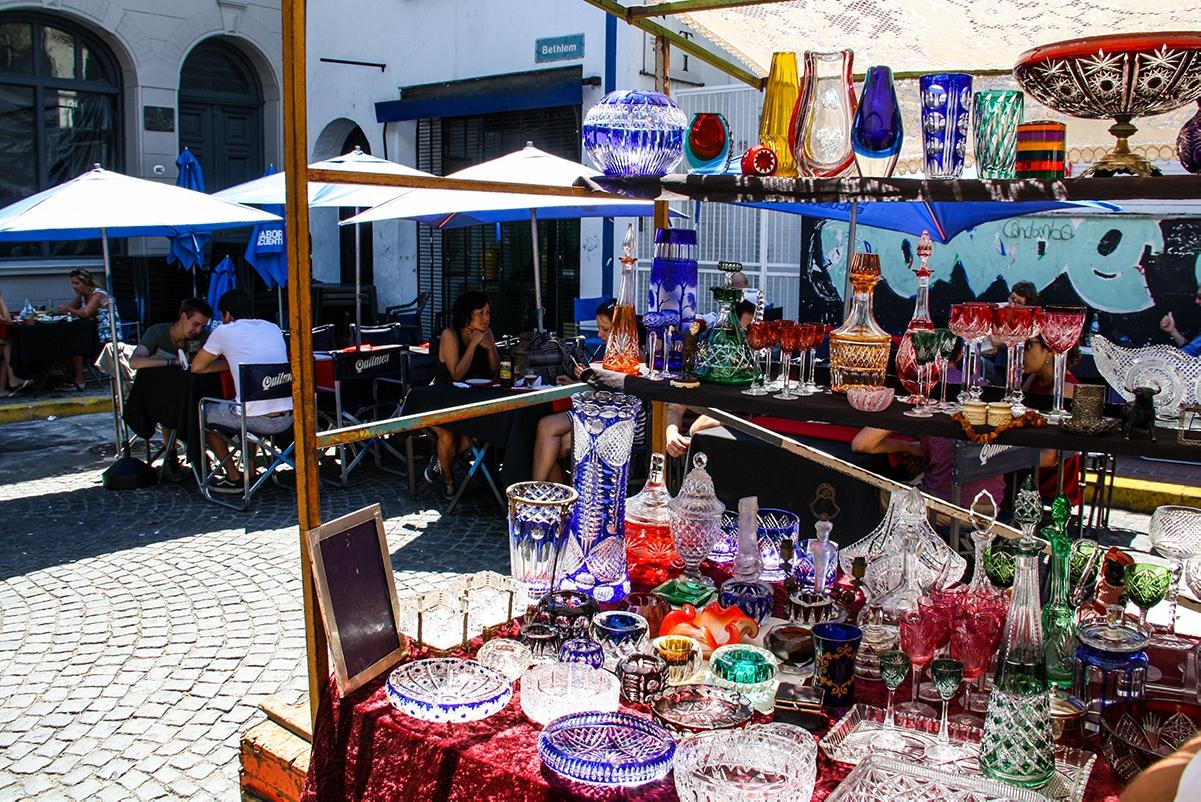 San Telmo flea market in Buenos Aires
