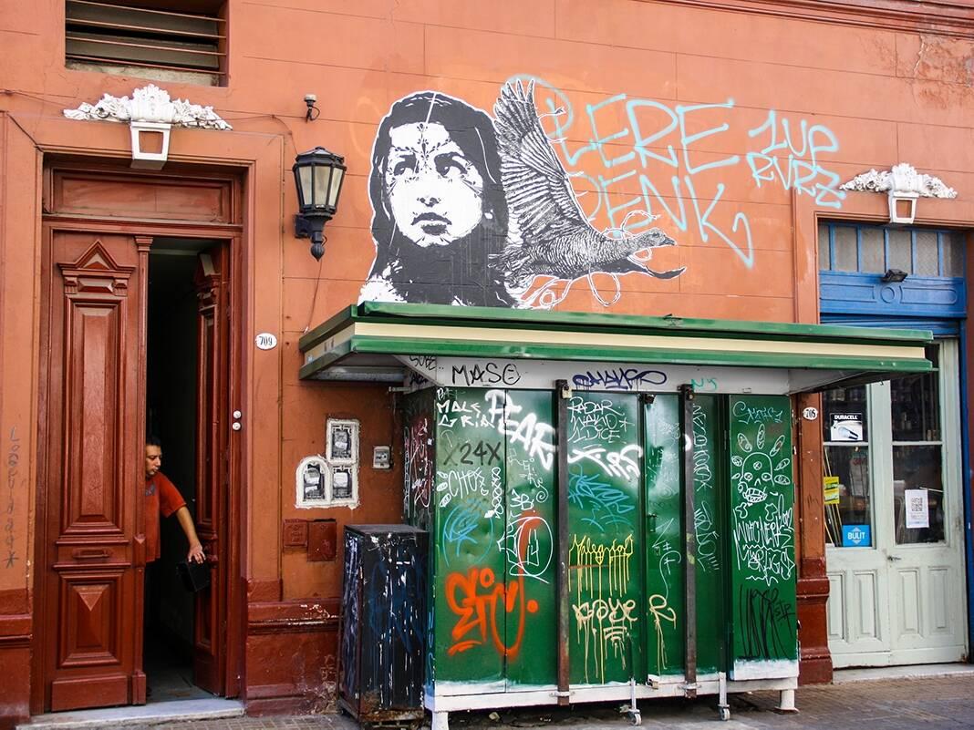 San Telmo street art in Buenos Aires
