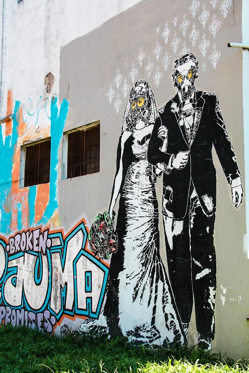 Street art in La Boca Buenos Aires