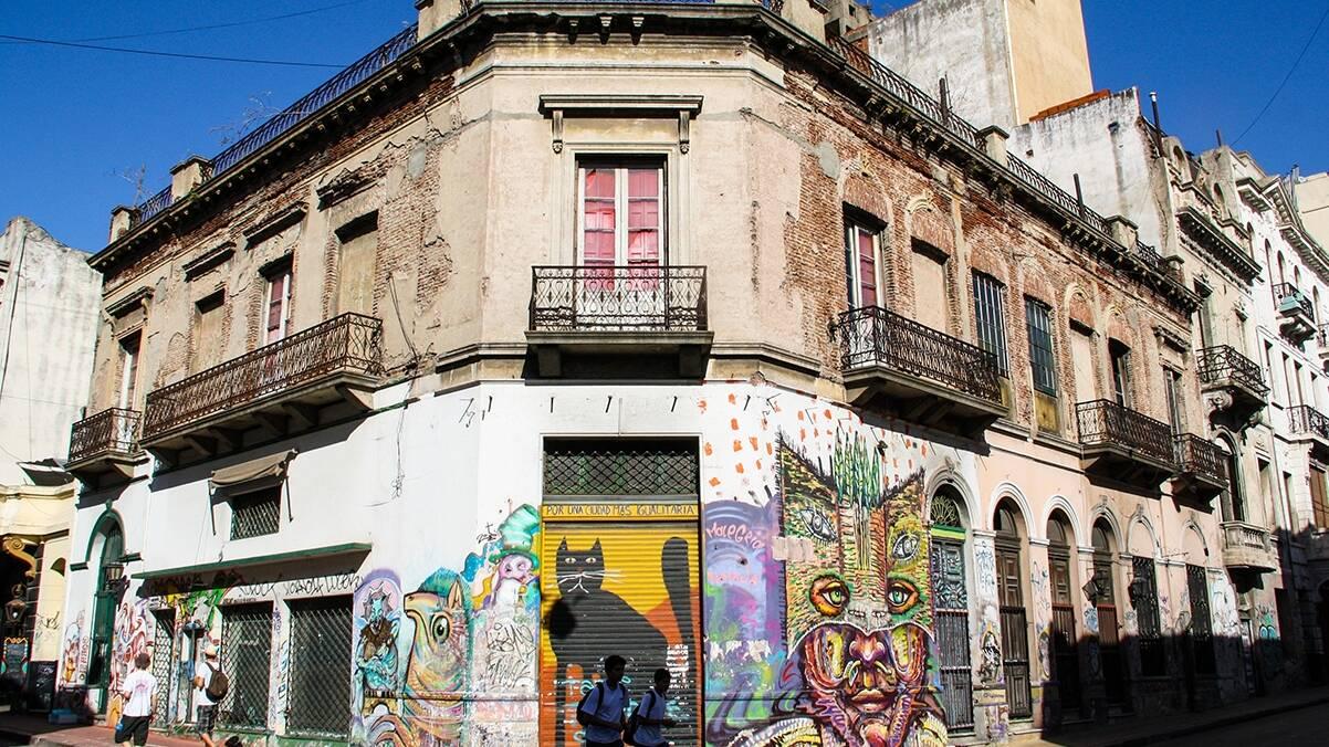 Street art in San Telmo Buenos Aires