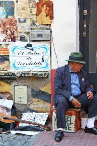 Street artist in San Telmo Buenos Aires