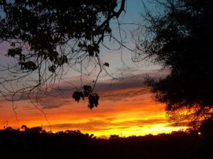 sunset sky okavango delta botswana