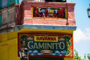 Tango bar in La Boca Buenos Aires