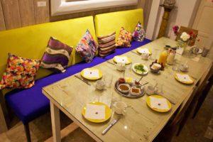 Breakfast table at Riad Dar Adul in Essaouira Morocco