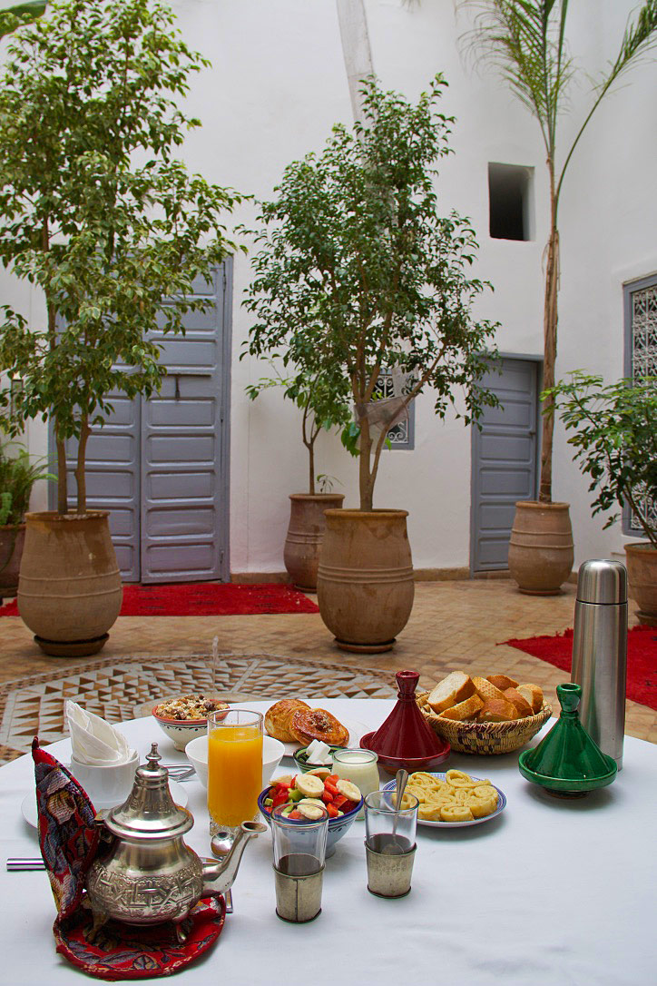breakfast riad tizwa marrakech morocco