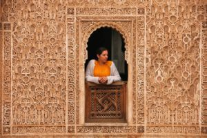 carving madrasa ben youssef marrakech morocco