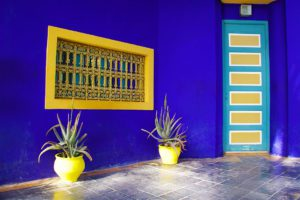 colors jardin majorelle marrakech morocco