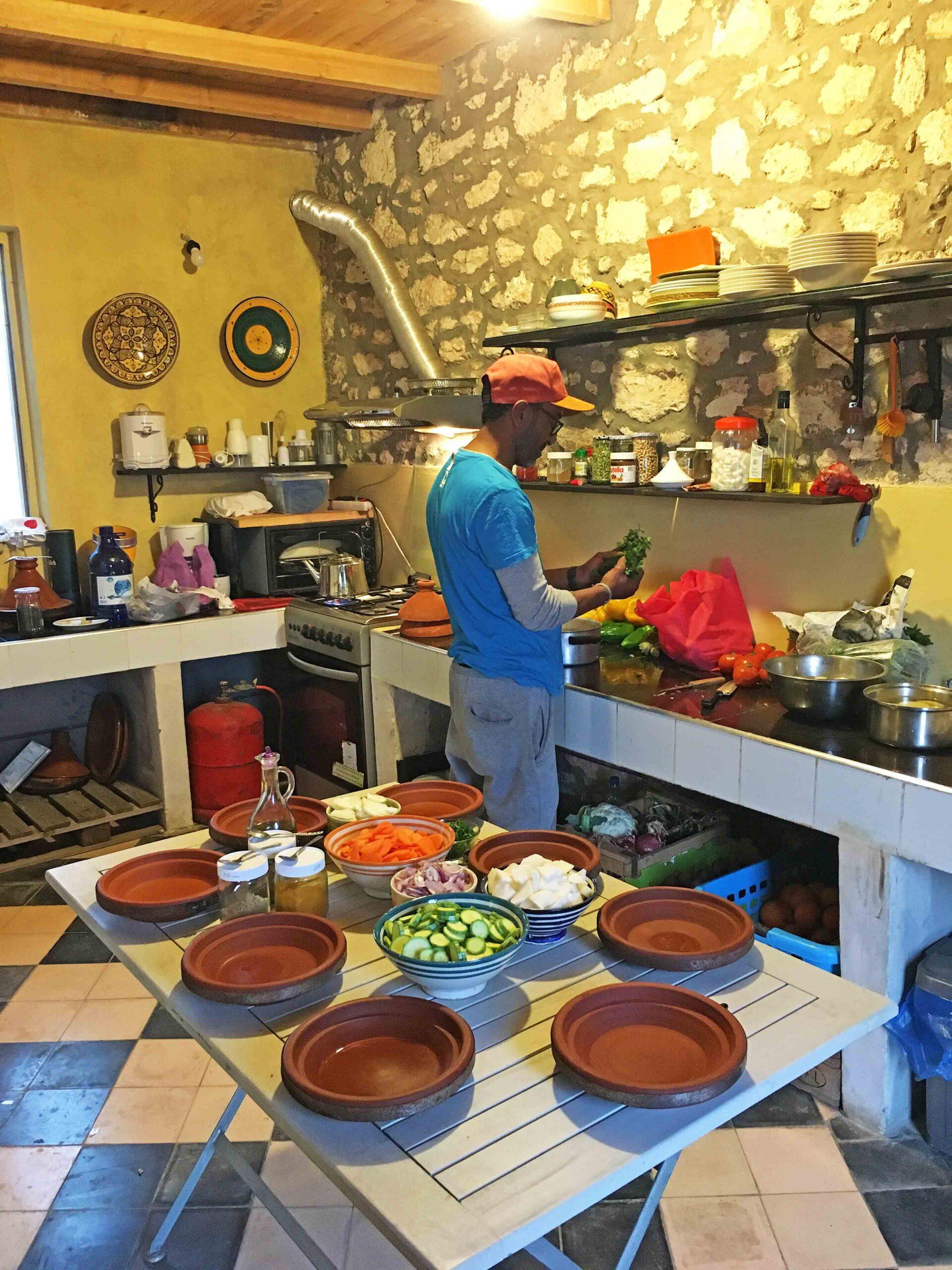 cooking class tajines karma surf retreat morocco