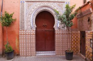 doors red city marrakech medina morocco