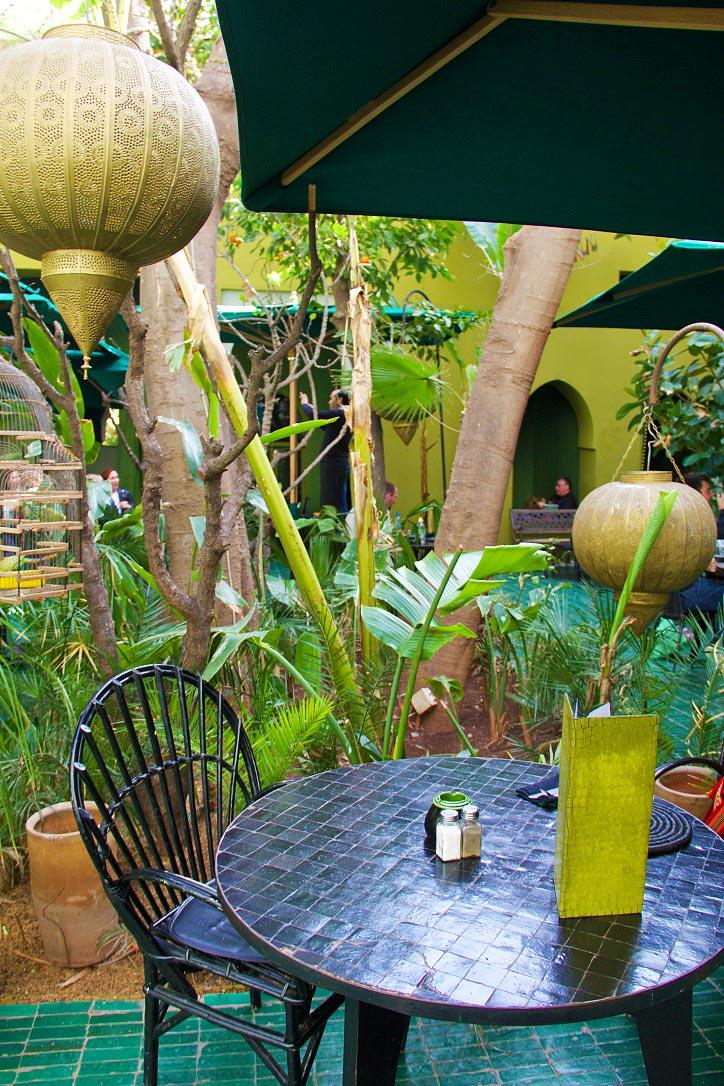 garden restaurant le jardin marrakech morocco