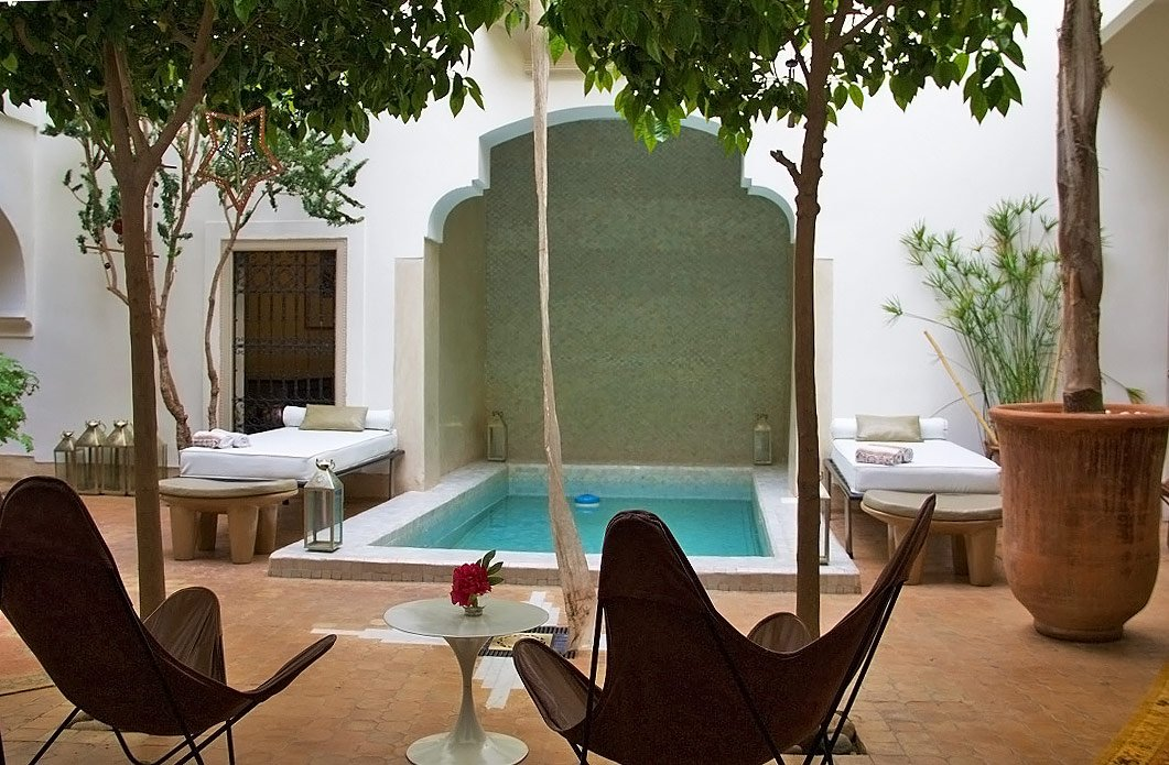 garden riad al massarah swimming pool marrakech