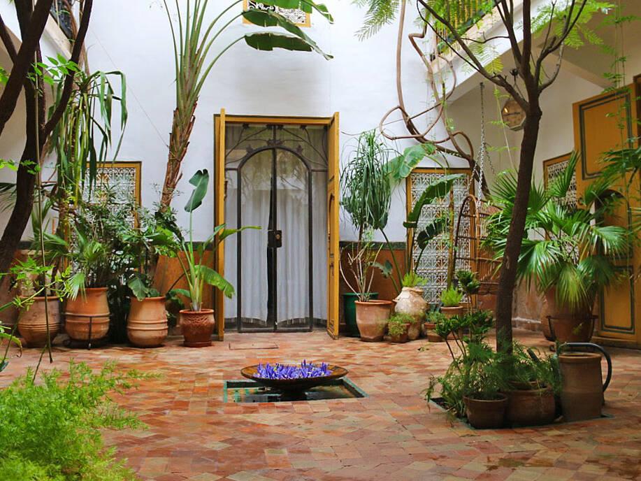 garden at riad dar rbaa laroub medina marrakech morocco