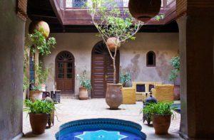 garden swimming pool riad khol marrakech