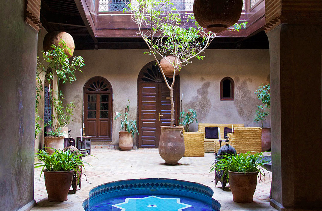 garden swimming pool riad khol marrakech