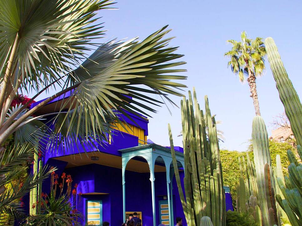 jardin majorelle colors house marrakech morocco