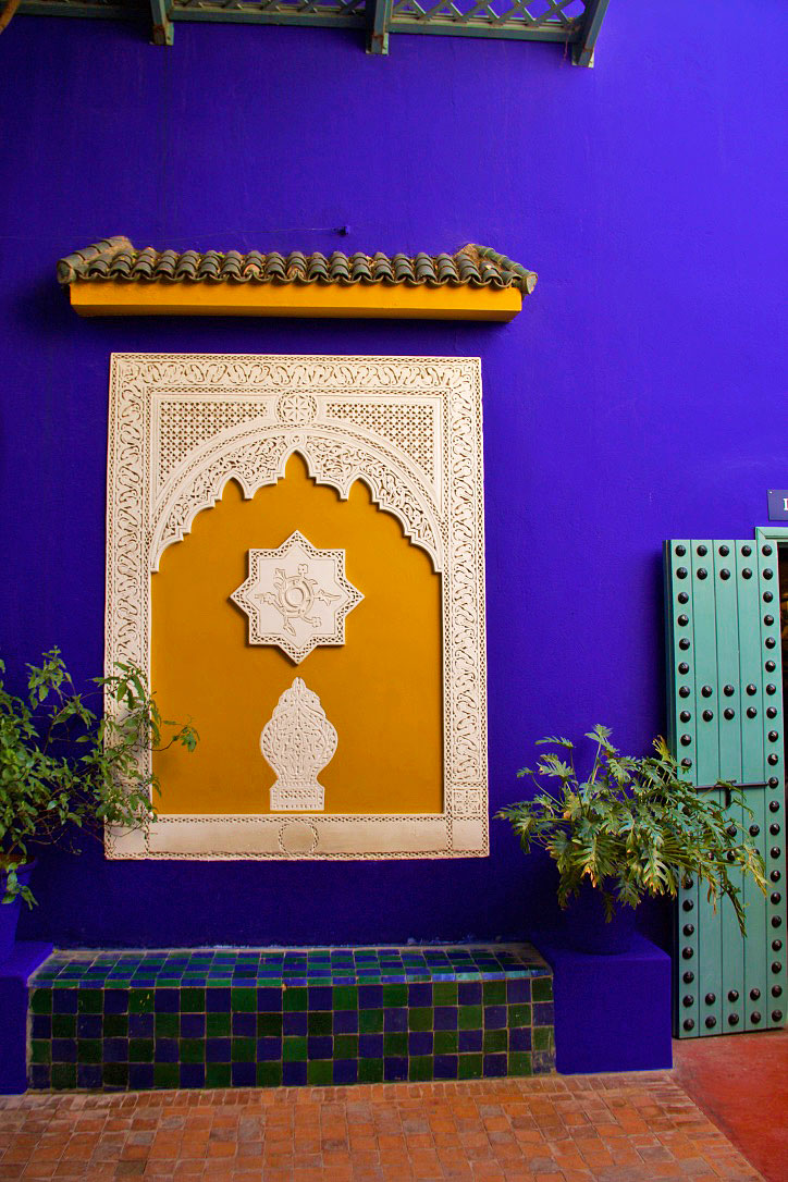 jardin majorelle house yves saint laurent marrakech morocco