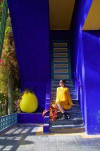 jardin majorelle yves saint laurent colors marrakech morocco