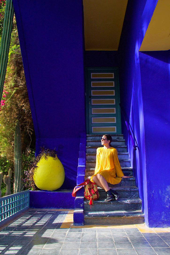 jardin majorelle yves saint laurent colors marrakech morocco
