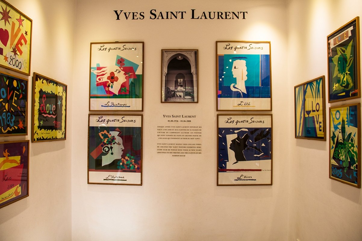 Yves Saint Laurent museum Jardin Majorelle in Marrakech