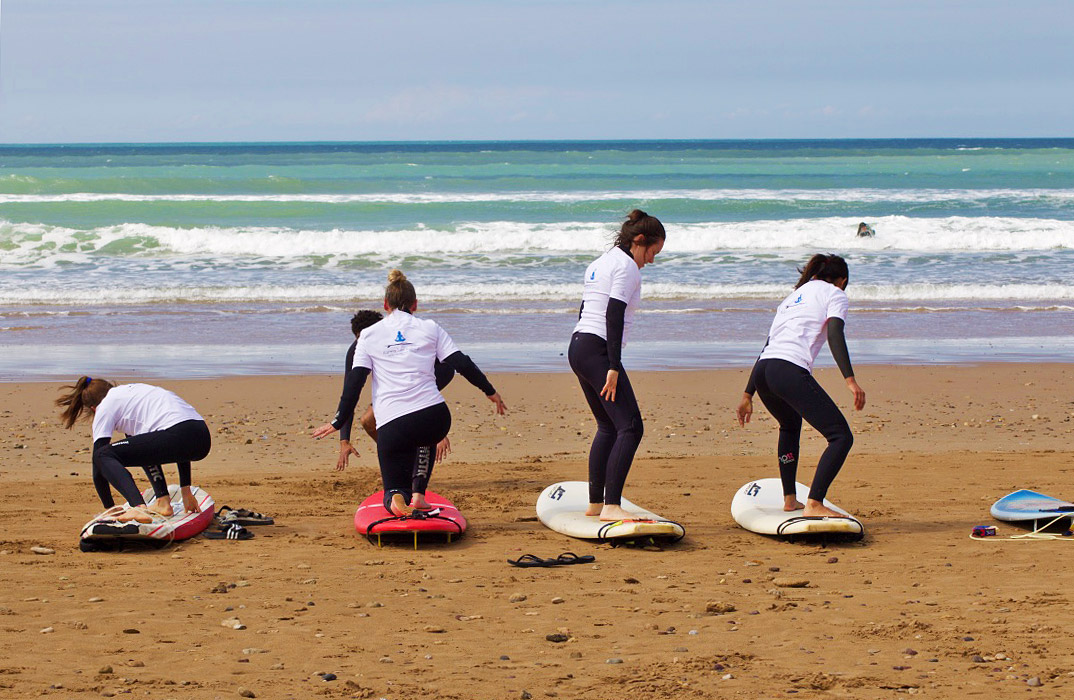 karma surf retreat lesson sidi kaouki beach