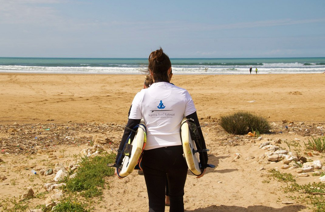 karma surf retreat lesson sidi kaouki morocco