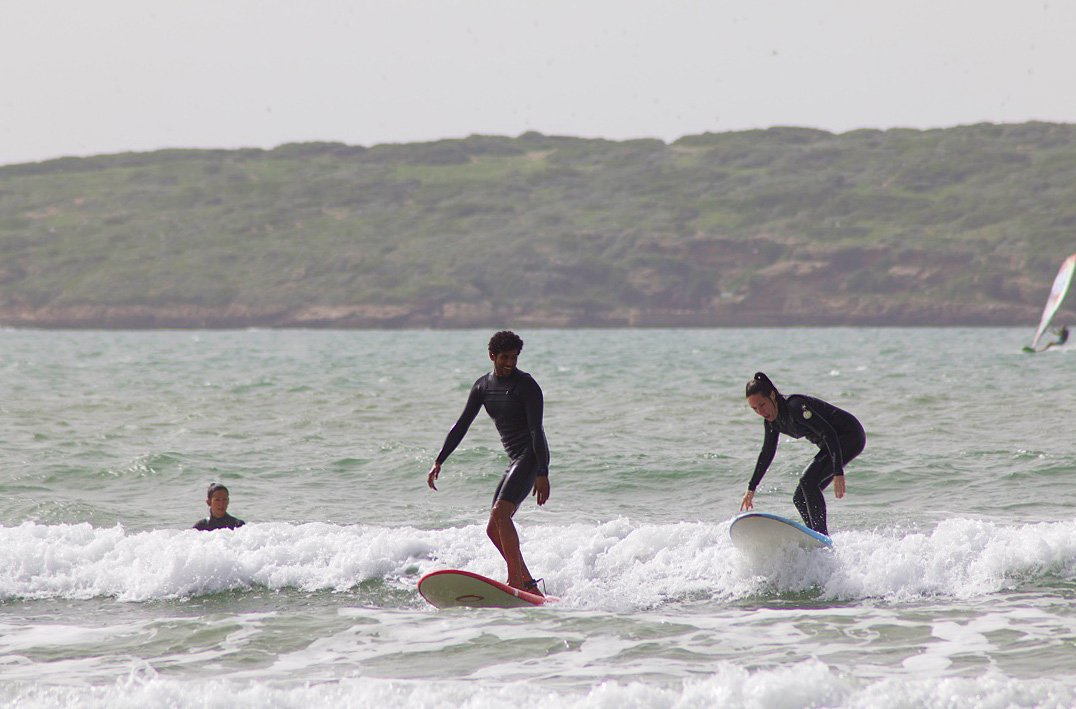 karma surf retreat surfing lesson essaouira