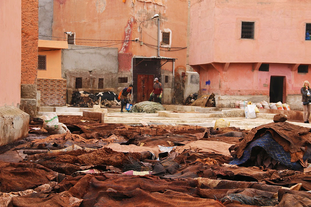 leather tanneries marrakech morocco medina