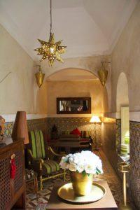 lobby riad vert marrakech morocco
