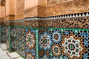 Mosaics at Madrassa Ben Youssef in Marrakech