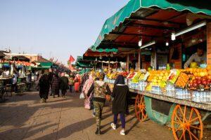 Food market in Marrakech Morocco