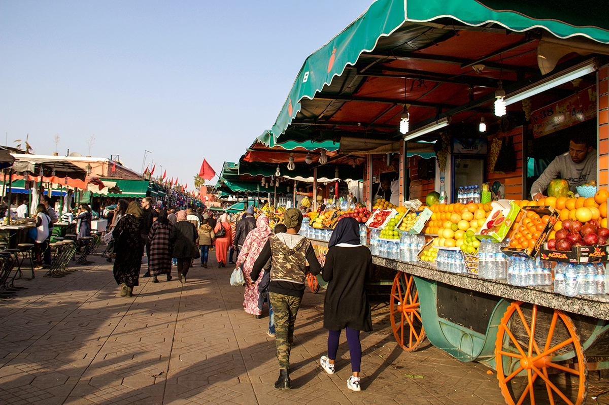 Food market in Marrakech Morocco