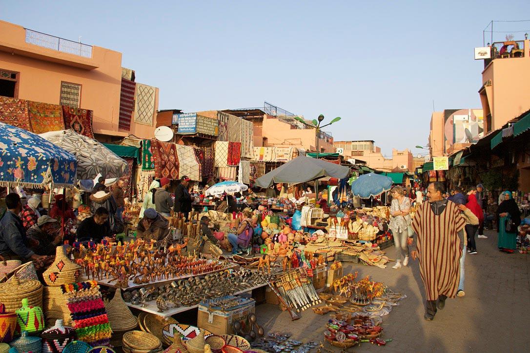 market souk medina marrakech morocco