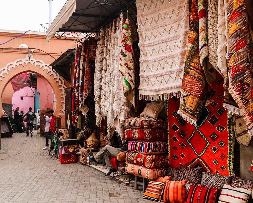 Shops in the medina in Marrakech