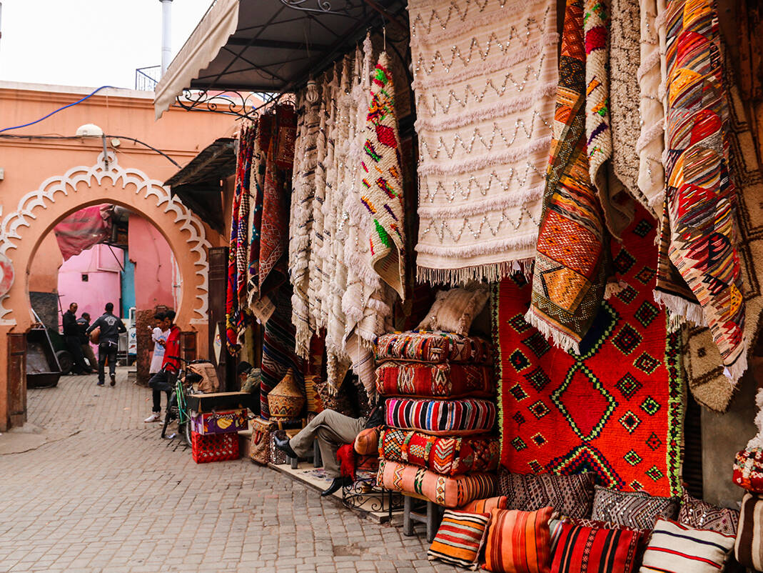 Shops in the medina in Marrakech