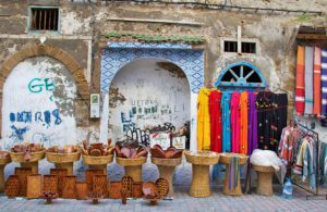 Shops in the medina of Essaouira Morocco