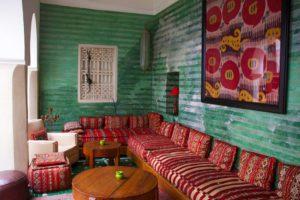 riad vert marrakech lobby