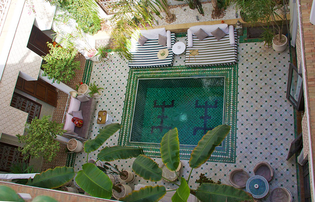 riad yasmine courtyard garden marrakech riads morocco