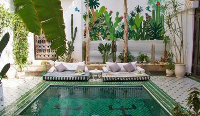 riad yasmine garden swimming pool riads marrakech morocco