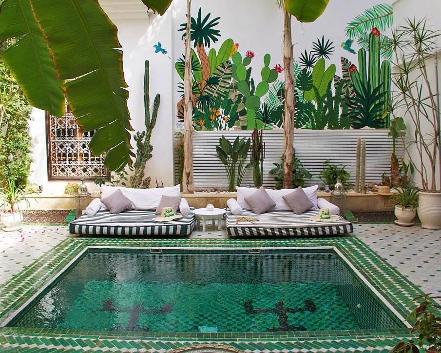 riad yasmine garden swimming pool riads marrakech morocco