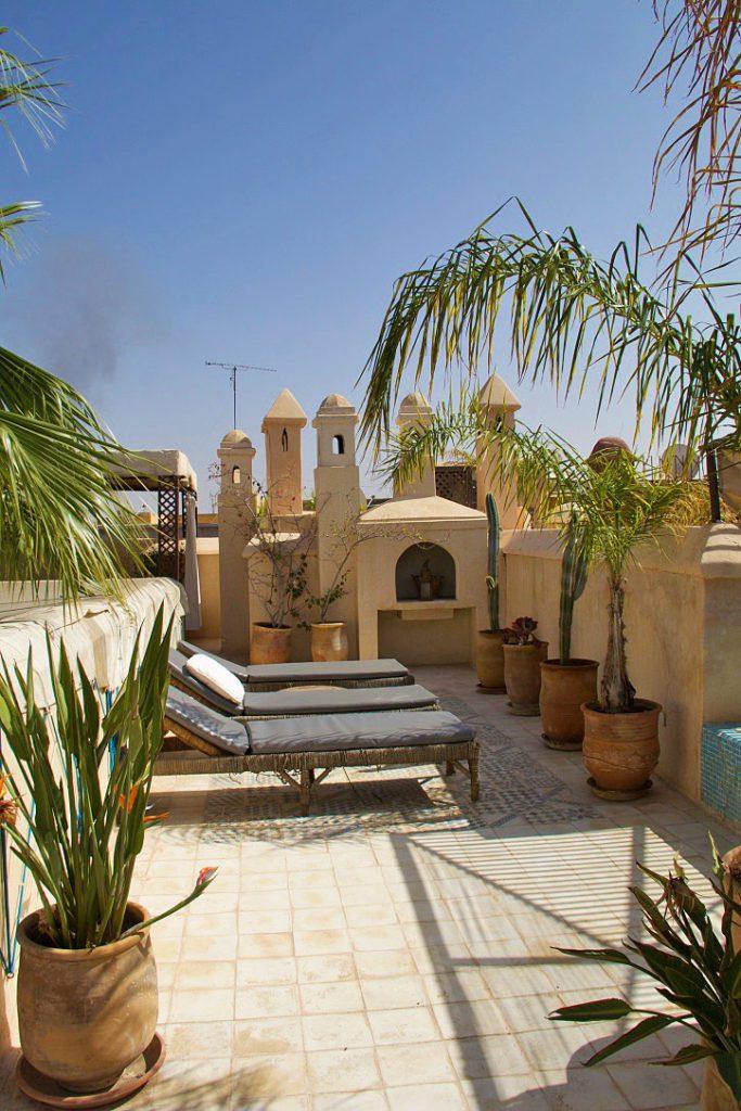 rooftop riad vert marrakech morocco