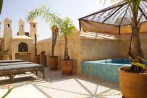 rooftop swimming pool riad vert marrakech