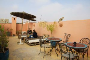rooftop terrace at Riad BE Marrakech
