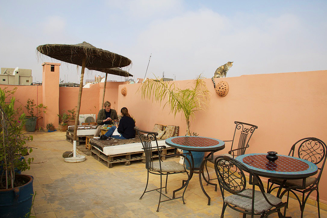 rooftop terrace breakfast riad be marrakech riads